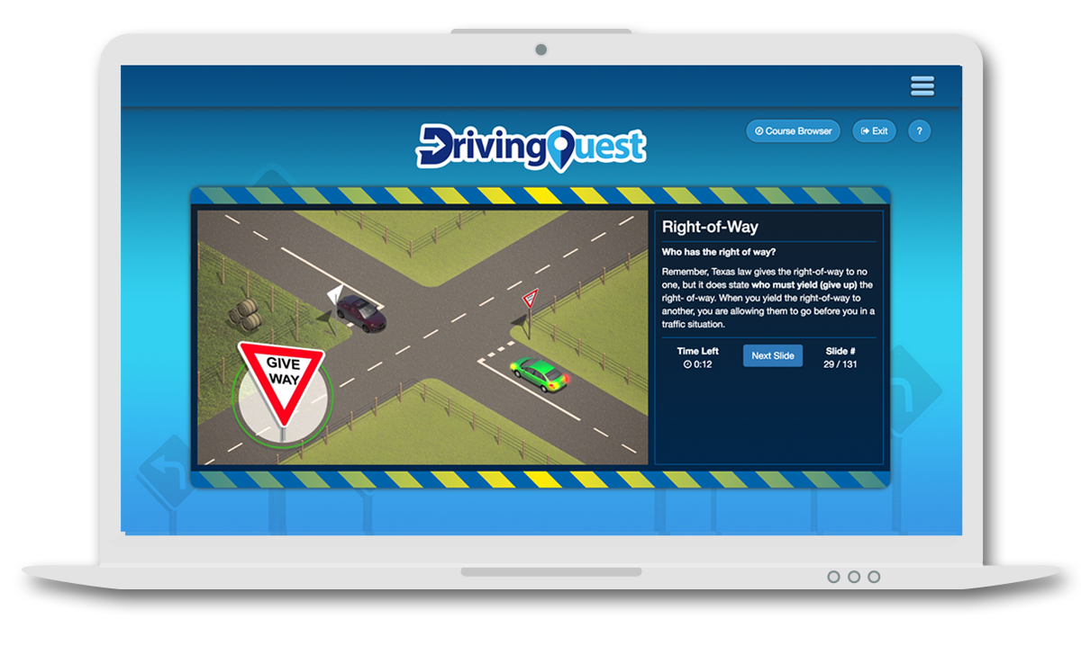 Drivers Ed Online >> Adult Drivers Ed Texas 1 Drivingquest